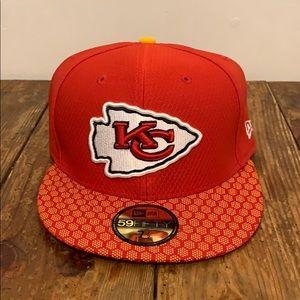 Kansas City Chiefs New Era Cap Size 7.5 Brand New!
